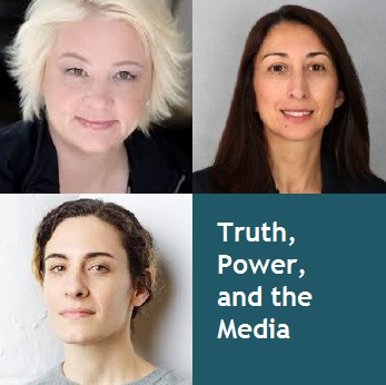"Images of ""Truth, Power, and the Media"" panelists"