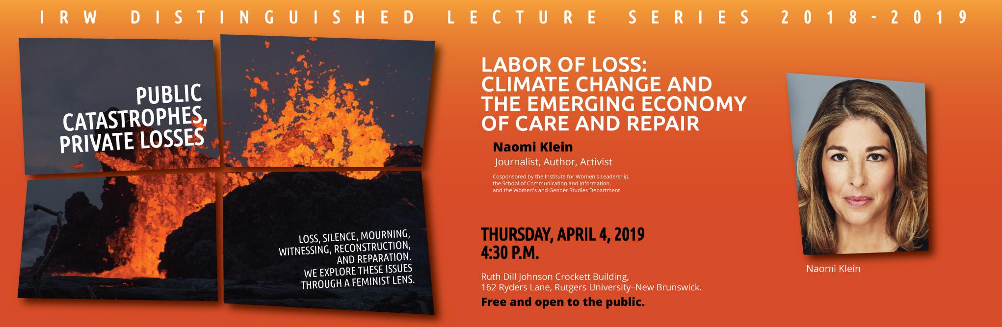 Naomi Klein IRW Distinguished Lecture